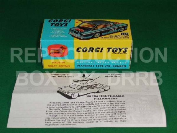Corgi #328 Hillman Imp Monte Carlo - Reproduction Box